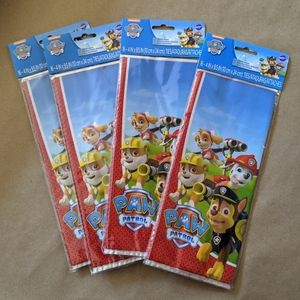 4 Packages of 16 Count Paw Patrol Treat Bags